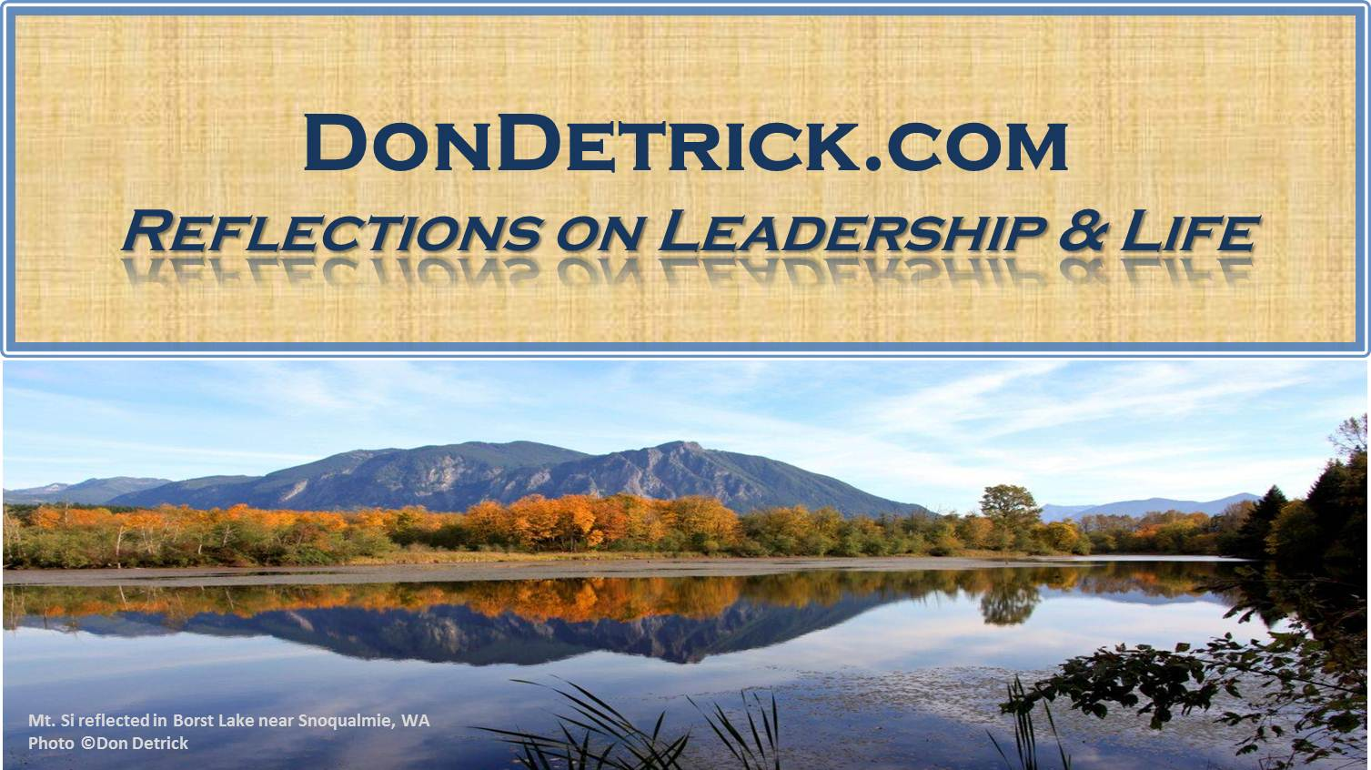 Dondetrick.com header with graphic and text